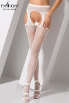 Collants ouverts S005 - Blanc