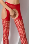 Collants ouverts S006 - Rouge