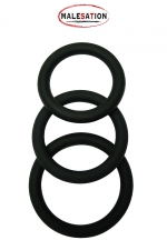 Set 3 CockRings silicone - Malesation