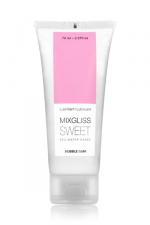 Mixgliss eau - Sweet Bubble Gum 70ml : Lubrifiant intime à base d'eau à la fragrance pétillante de bubble gum.