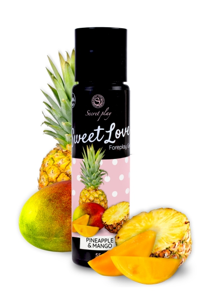 Lubrifiant comestible Ananas-Mangue - 60ml